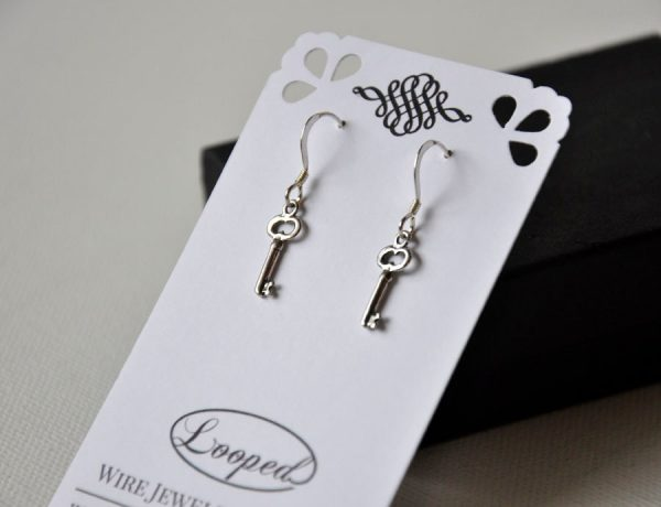 925 Key Earrings