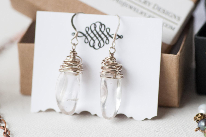 Quartz Pebble Earrings
