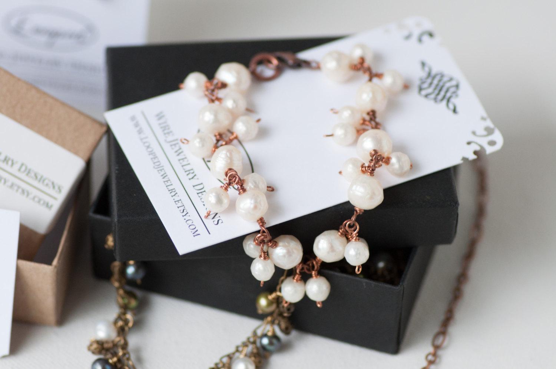 Pearl Copper Bracelet