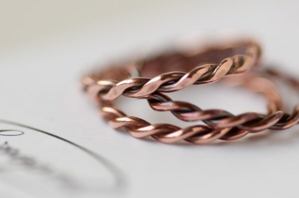 Copper Twist Rings