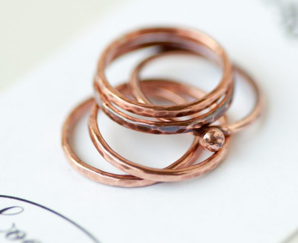 Copper Stacking Ring Set