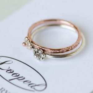 Flower Stacking Rings